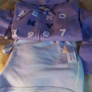Aeropostale fullzip sweater and matching shorts